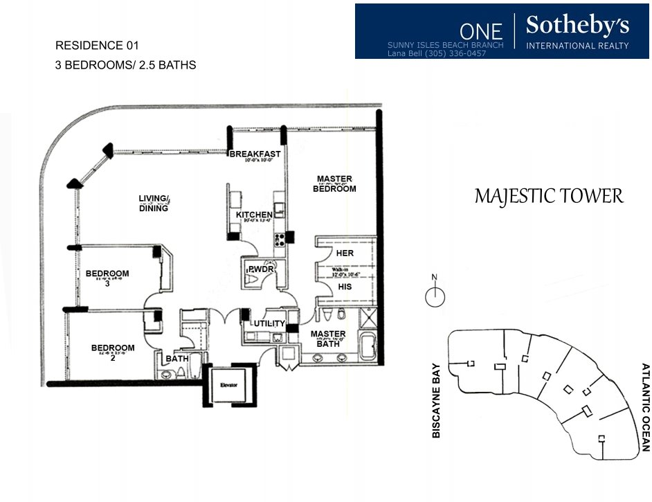 Majestic Bal Harbour Floor Plan 1
