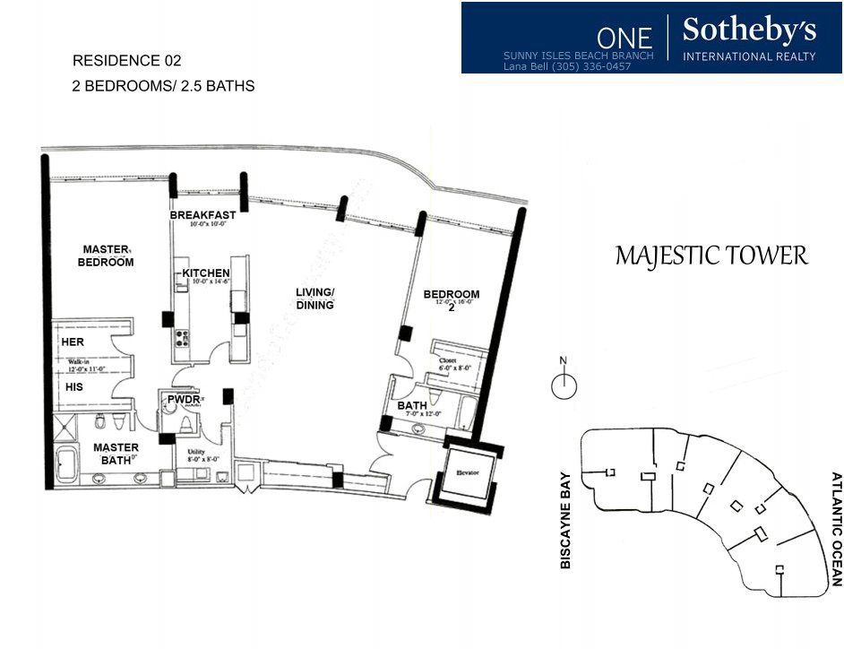 Majestic Bal Harbour Floor Plan 2