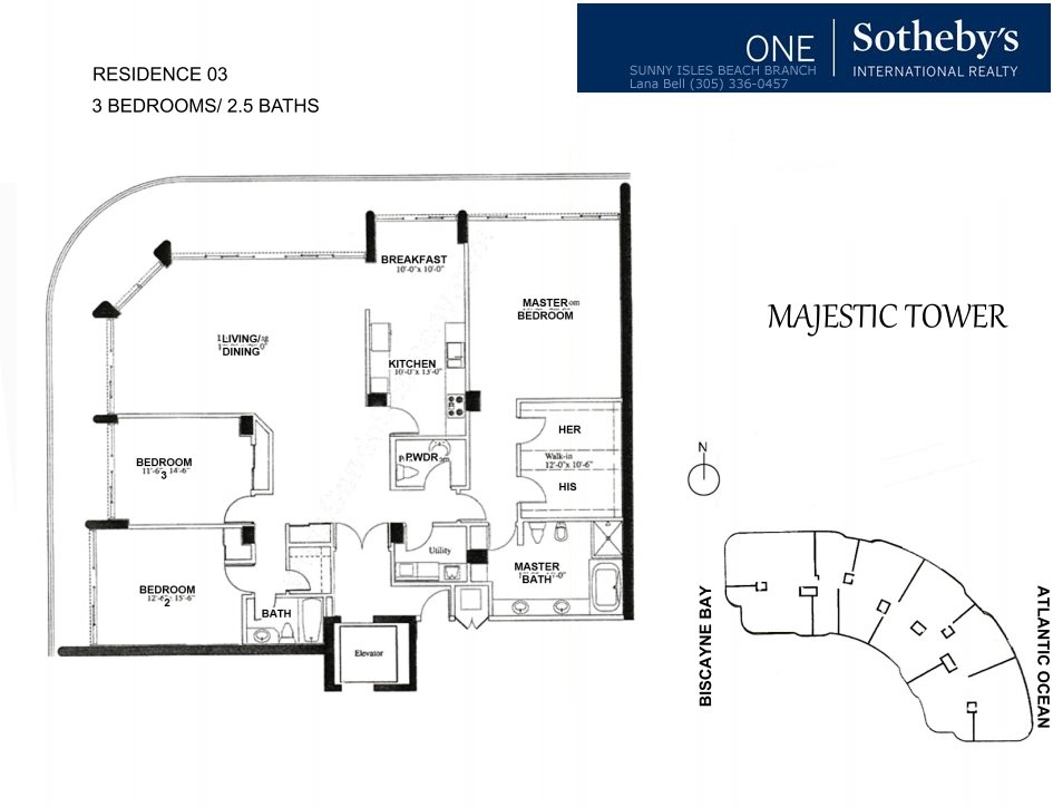 Majestic Bal Harbour Floor Plan 3