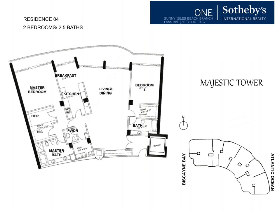 Majestic Bal Harbour Floor Plan 4
