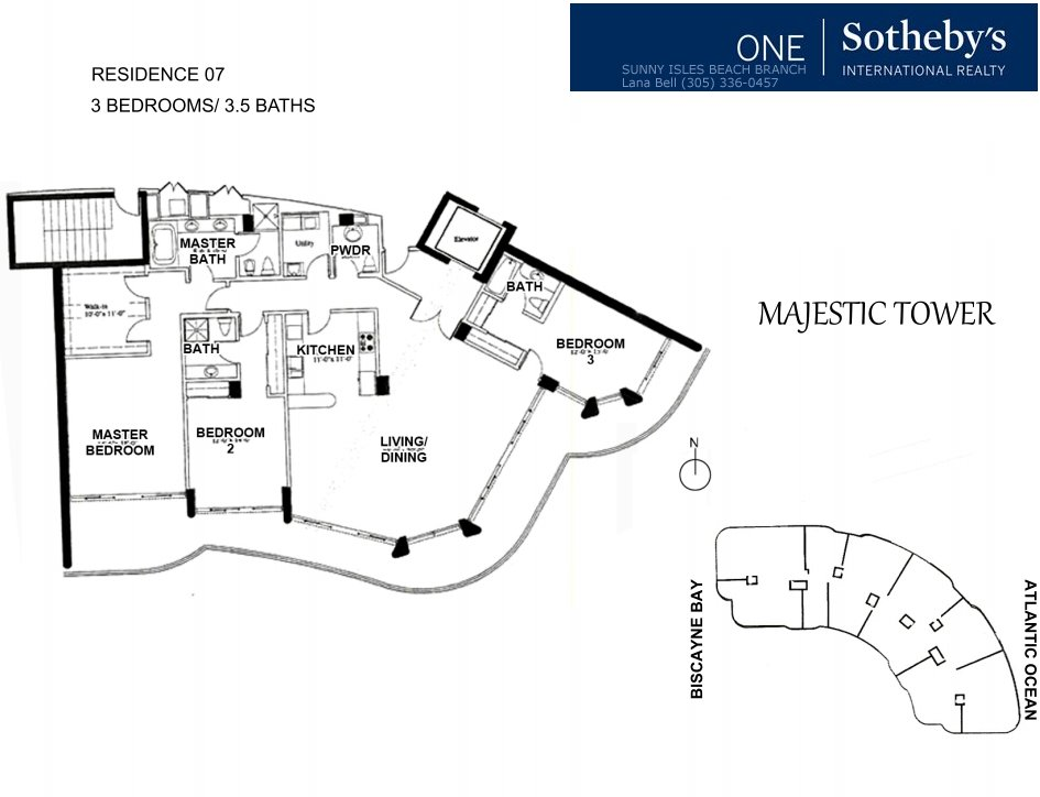 Majestic Bal Harbour Floor Plan 7