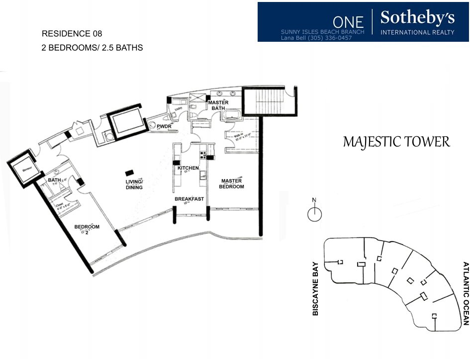 Majestic Bal Harbour Floor Plan 8