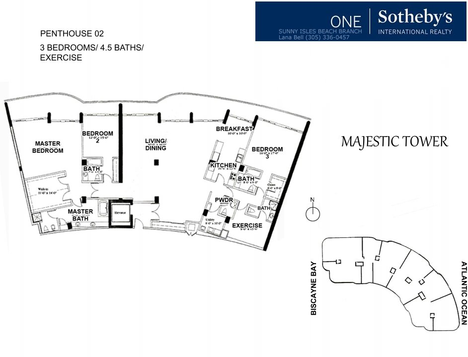 Majestic Bal Harbour Penthouse Floor Plan 2