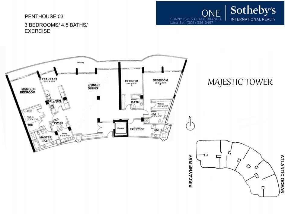 Majestic Bal Harbour Penthouse Floor Plan 3