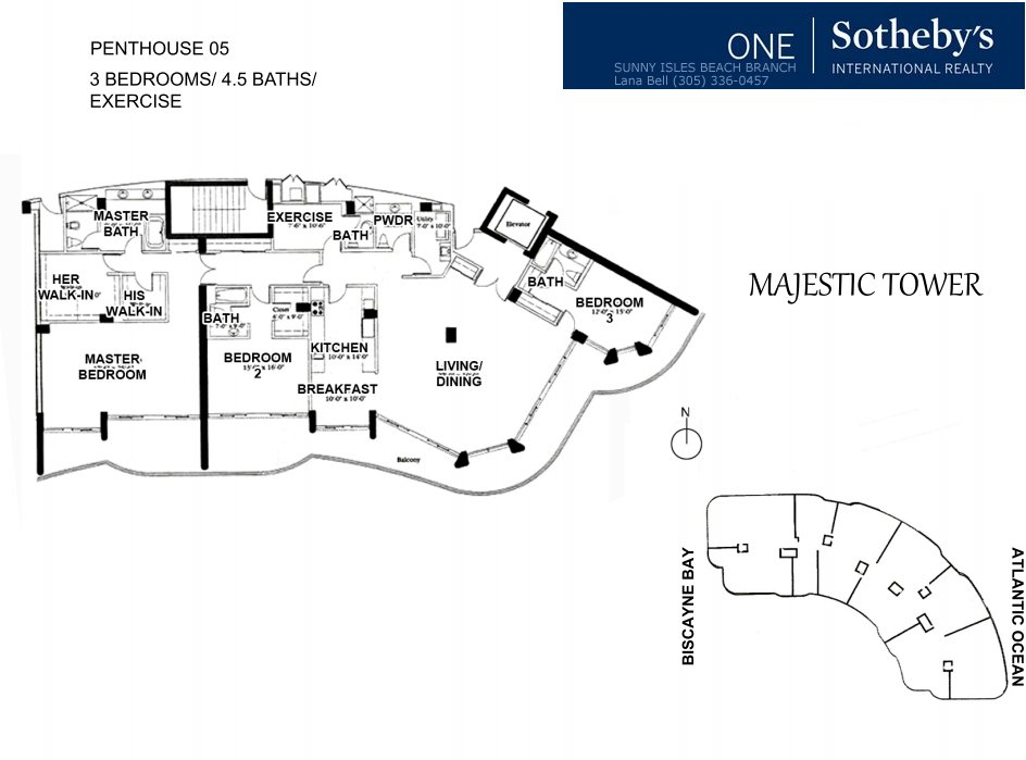 Majestic Bal Harbour Penthouse Floor Plan 5