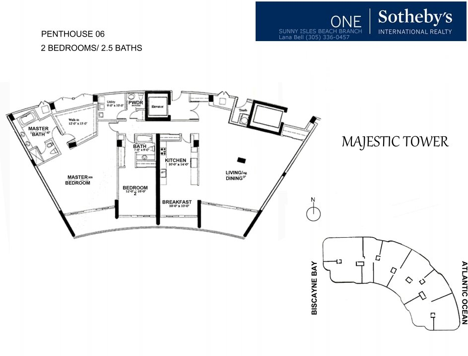 Majestic Bal Harbour Penthouse Floor Plan 6