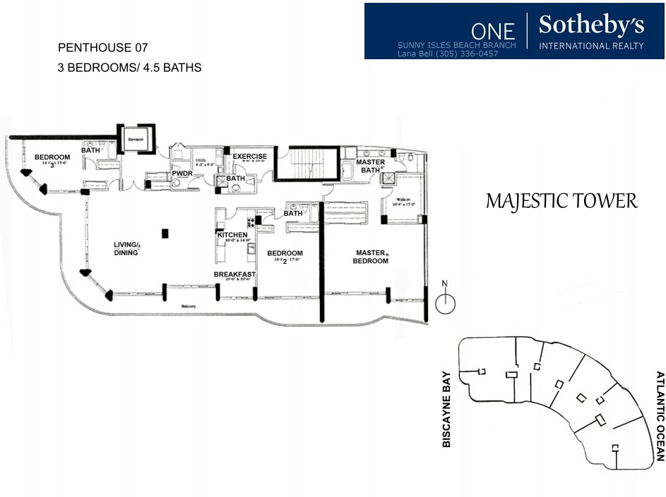 Majestic Bal Harbour Penthouse Floor Plan 7