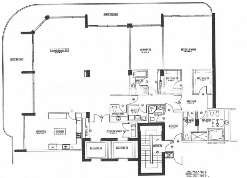 Palace Bal Harbour Floor Plan A