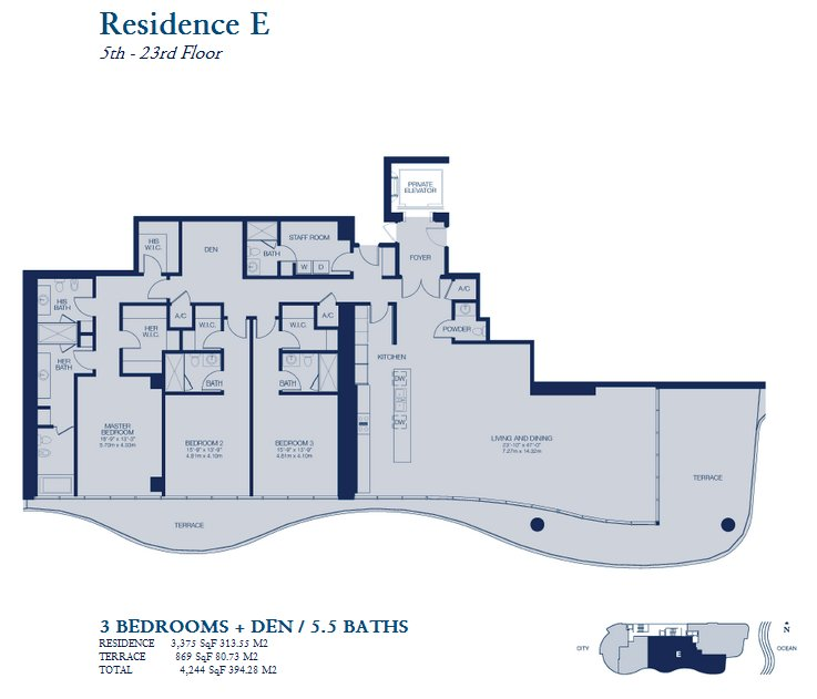 Chateau Beach Residences floor plan residence E