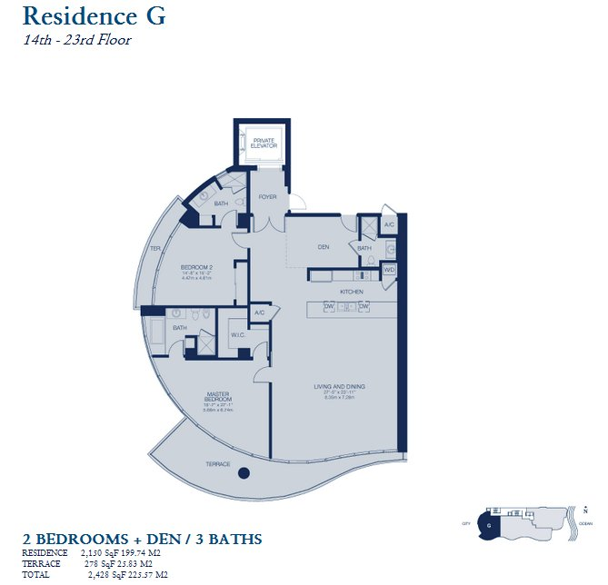 Chateau Beach Residences floor plan residence G