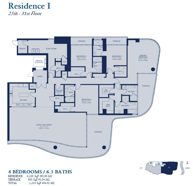 Chateau Beach Residences floor residence I