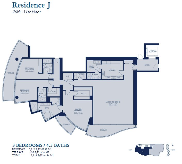 Chateau Beach Residences floor plan residence J